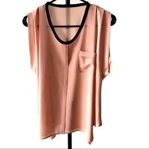 Pink Blouse With gathered Hand | Sx- S